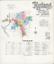 Rutland, VT Fire Insurance 1890 Sheet 1 - Old Town Map Reprint