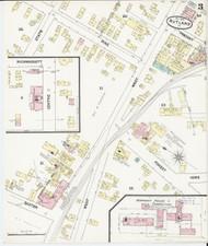 Rutland, VT Fire Insurance 1890 Sheet 3 - Old Town Map Reprint