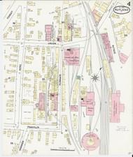 Rutland, VT Fire Insurance 1890 Sheet 4 - Old Town Map Reprint