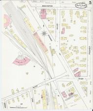 Rutland, VT Fire Insurance 1890 Sheet 5 - Old Town Map Reprint