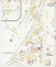 Rutland, VT Fire Insurance 1890 Sheet 6 - Old Town Map Reprint