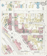 Rutland, VT Fire Insurance 1890 Sheet 7 - Old Town Map Reprint