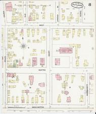 Rutland, VT Fire Insurance 1890 Sheet 8 - Old Town Map Reprint