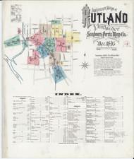 Rutland, VT Fire Insurance 1895 Sheet 1 - Old Town Map Reprint
