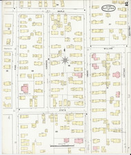 Rutland, VT Fire Insurance 1895 Sheet 2 - Old Town Map Reprint