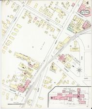 Rutland, VT Fire Insurance 1895 Sheet 4 - Old Town Map Reprint