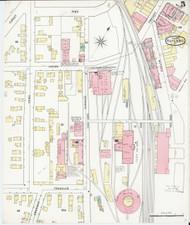 Rutland, VT Fire Insurance 1895 Sheet 5 - Old Town Map Reprint