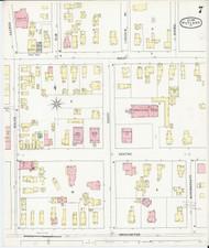 Rutland, VT Fire Insurance 1895 Sheet 7 - Old Town Map Reprint