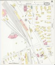 Rutland, VT Fire Insurance 1895 Sheet 9 - Old Town Map Reprint