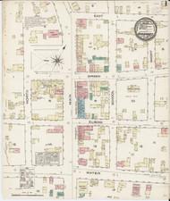 Vergennes, VT Fire Insurance 1885 Sheet 1 - Old Town Map Reprint