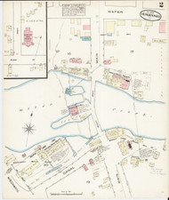 Vergennes, VT Fire Insurance 1885 Sheet 2 - Old Town Map Reprint