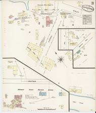 Vergennes, VT Fire Insurance 1885 Sheet 3 - Old Town Map Reprint