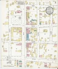 Vergennes, VT Fire Insurance 1892 Sheet 1 - Old Town Map Reprint