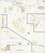 Vergennes, VT Fire Insurance 1892 Sheet 3 - Old Town Map Reprint