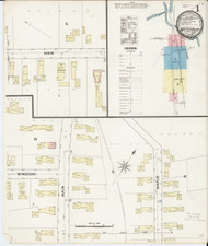 Waterbury, VT Fire Insurance 1889 Sheet 1 - Old Town Map Reprint