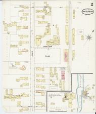 Waterbury, VT Fire Insurance 1889 Sheet 2 - Old Town Map Reprint