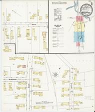 Waterbury, VT Fire Insurance 1894 Sheet 1 - Old Town Map Reprint