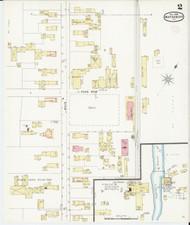 Waterbury, VT Fire Insurance 1894 Sheet 2 - Old Town Map Reprint