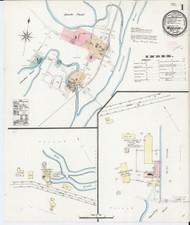 Windsor, VT Fire Insurance 1889 Sheet 1 - Old Town Map Reprint