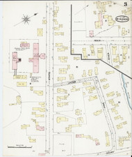 Windsor, VT Fire Insurance 1889 Sheet 3 - Old Town Map Reprint
