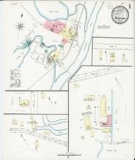 Windsor, VT Fire Insurance 1894 Sheet 1 - Old Town Map Reprint