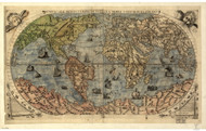 1565 World Map by Forlani, Bertelli, Gastaldi & Rosenwald