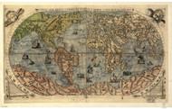 1565 World Map by Forlani, Bertelli, Gastaldi & Rosenwald