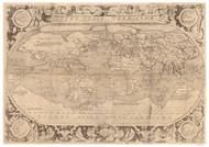 1603 World Map by Solis