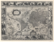 1606 World Map by Blaeu & Ende