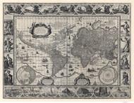 1606 World Map by Blaeu & Ende