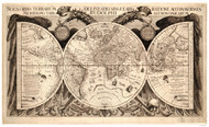 1630 World Map by Eckebrecht, Walch & Kepler