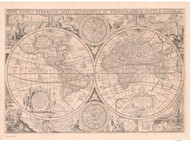 1655 World Map by Hondius
