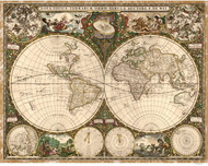 1660 World Map by Wit