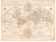 1661 World Map by Duval & Berey