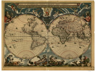 1664 World Map by Blaeu