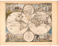 1688 World Map by Wit