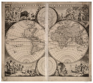 1705 World Map by Loots