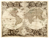 1708 World Map by Nolin & Bocquet