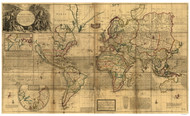 1719 World Map by Moll