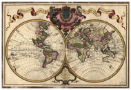 1720 World Map by L'isle