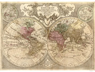 1775 World Map by L'isle & Lotter