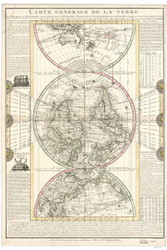 1782 World Map by Flecheux