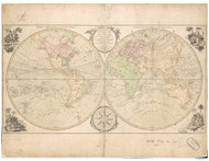 1791 World Map by Bowles
