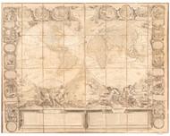 1794 World Map by Nollin & Bocquet
