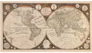1799 World Map by Kitchen & Evans