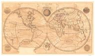 1800 World Map by Wallis