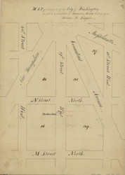 7 Lingan 19th St 1796 Washington DC Block Map - Old Map Reprint