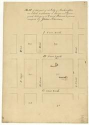 10 Burns 10th St 1796 Washington DC Block Map - Old Map Reprint
