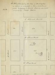 10 Burns 10th St 2 1870x Washington DC Block Map - Old Map Reprint