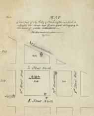 11 Davidson 13th St 1870x Washington DC Block Map - Old Map Reprint